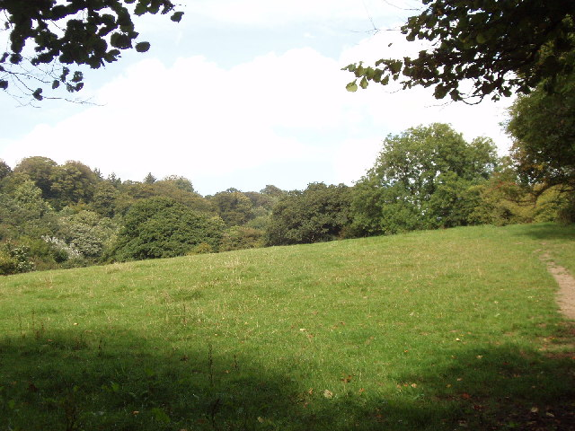 Fields below Helland Bridge