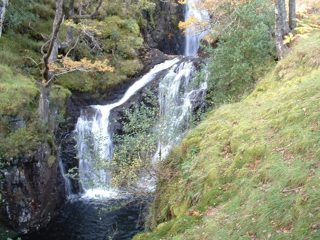 The Buchan Burn waterfalls