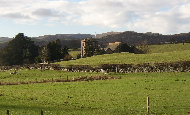 Church amidst fields, Broughton-in-Furness