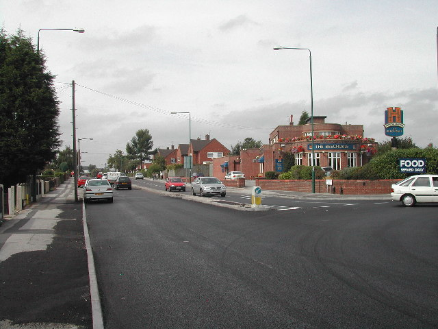 The start of Hollington Road, Beechdale, Nottingham