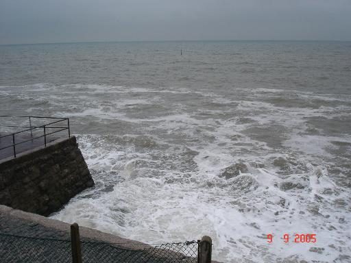 High tide at Colwyn Bay