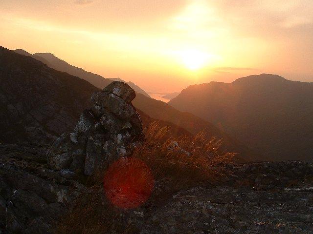 Sunset over Glen Pean