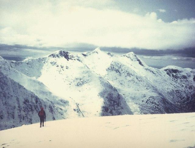 Snow clad Ben Cruachan