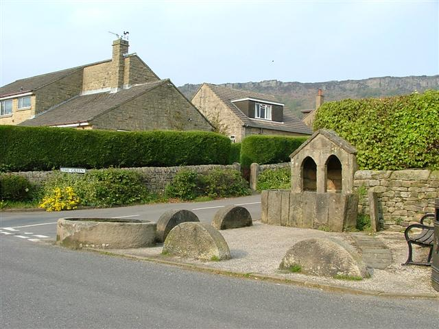 Curbar well and horse trough