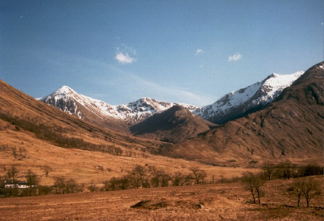 View to Ben Starav and Glas Beinn Mhor from the Glen Etive road