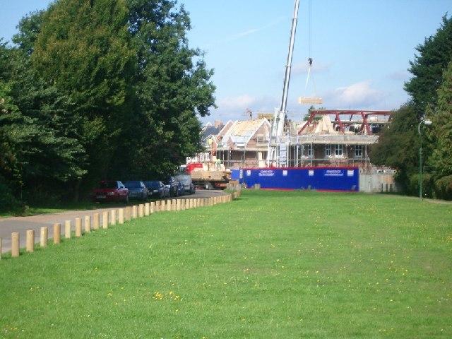 Tilt Road Cobham, with new housing under construction