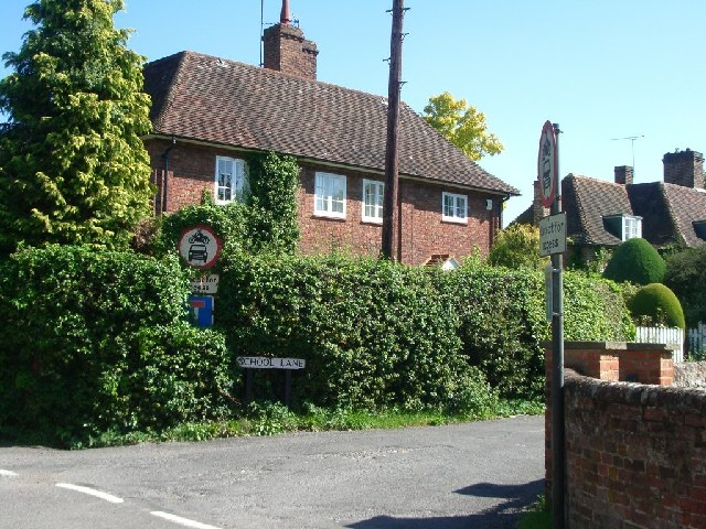 Junction of The Street and School Lane, East Clandon