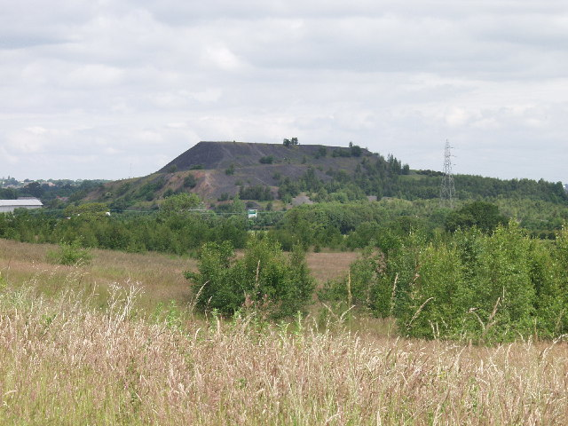 View towards the Bersham Colliery Bing at Rhostyllen from Bonc-yr-Hafod Country Park