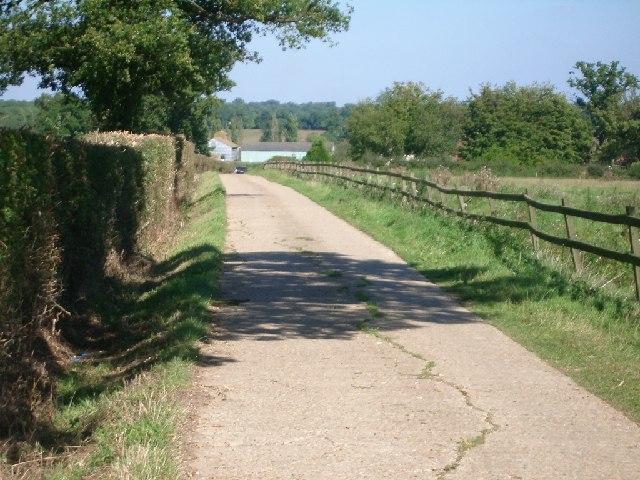 Bridleway between Holride Farm and Jury Farm