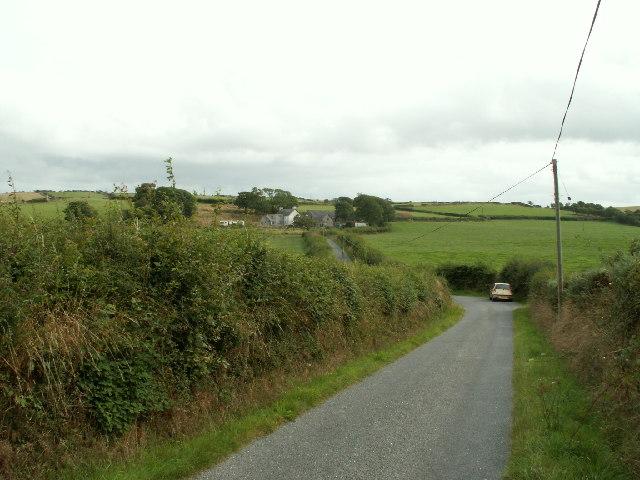 Lane looking towards Brynhir farm
