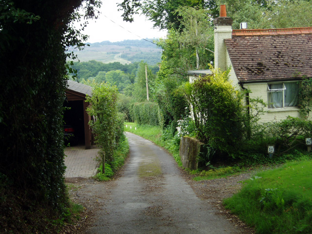 Lane and footpath to the Ashdown Forest
