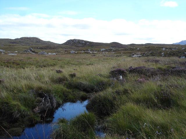 Bog draining into Loch a' Bhaid-luachraich