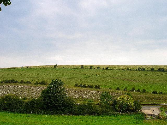 Long Hill, between Falmer and Lewes