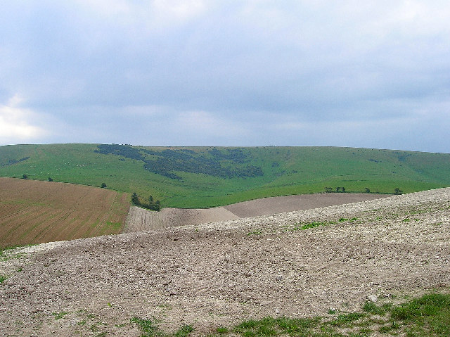 Looking towards Cold Coombes, near Kingston, Lewes