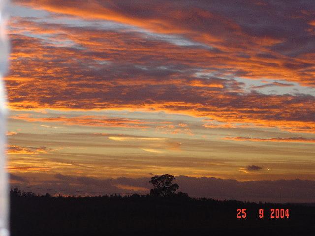 Sunset on Linton Heath