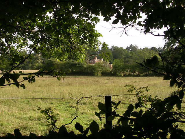 Ironshill Lodge from the Busketts Lawn Inclosure, New Forest