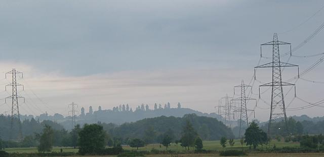 Pylons south of North Baddesley