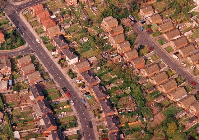 Aerial photo of Surgeys Lane