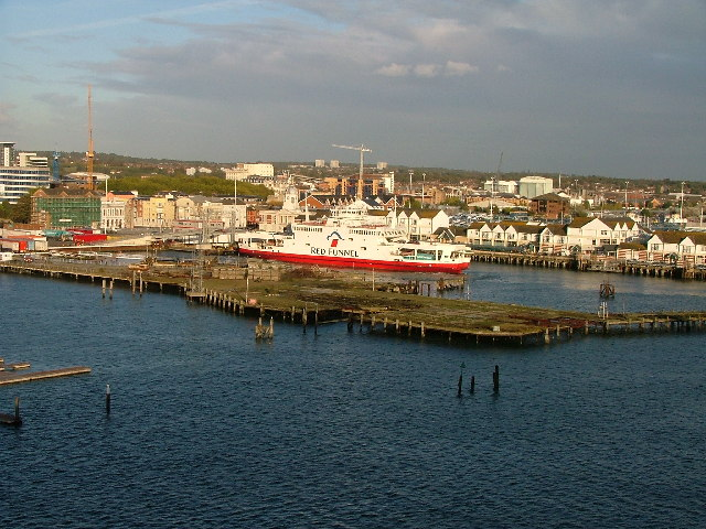 Royal Pier, Southampton, from the River Test