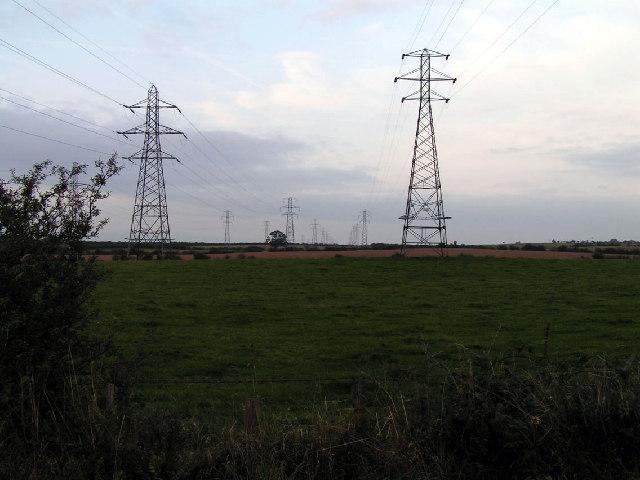 Pylons, near Aspatria