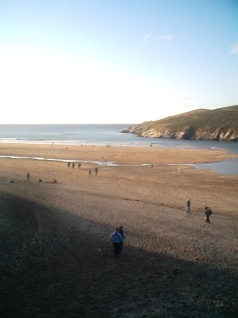 Crantock Beach at low tide