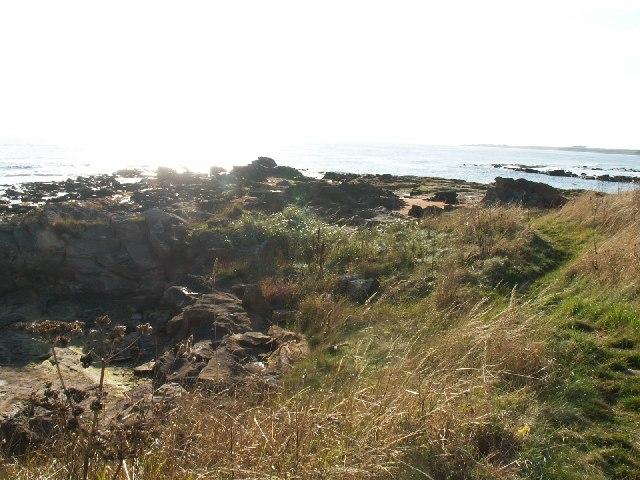 Fife coastal path and Babbet Ness