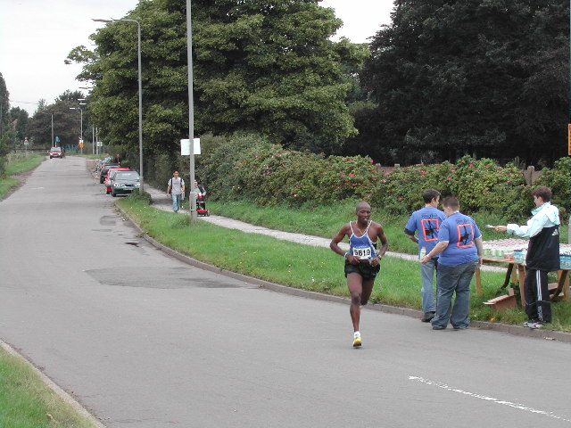 First runner in 25th Nottingham Marathon