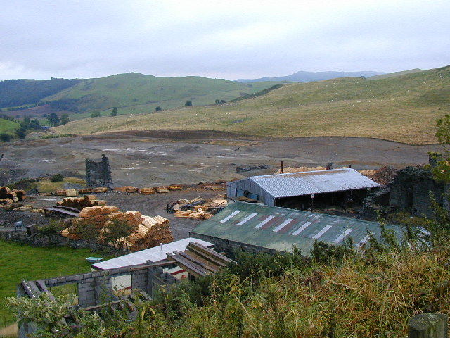 Sawmilling at the old Fron Goch lead mine.