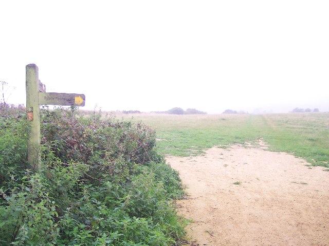 Meeting of pathways near Hollingbury Camp