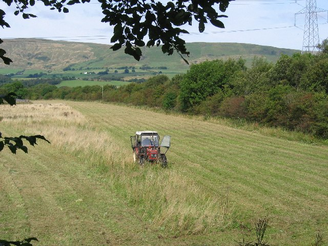 Cutting silage, Birdston, near Kirkintilloch, East Dunbartonshire