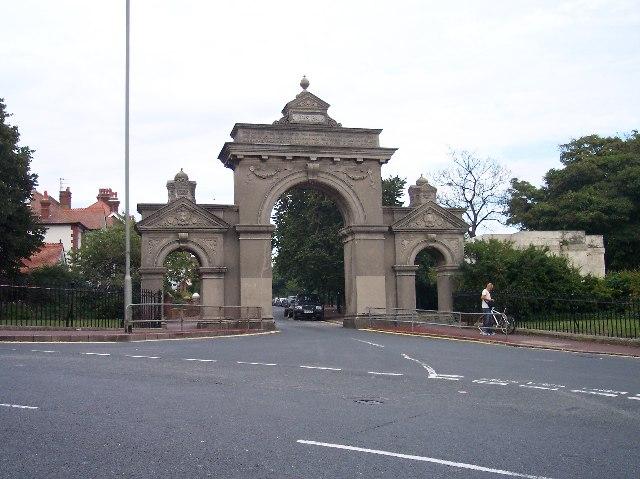 Entrance gates to Queen's Park, Brighton