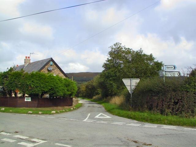 Crossroads near Bryn Golau