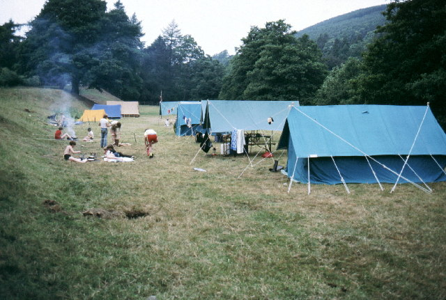 Scout Camp at foot of Gouthwaite Reservoir