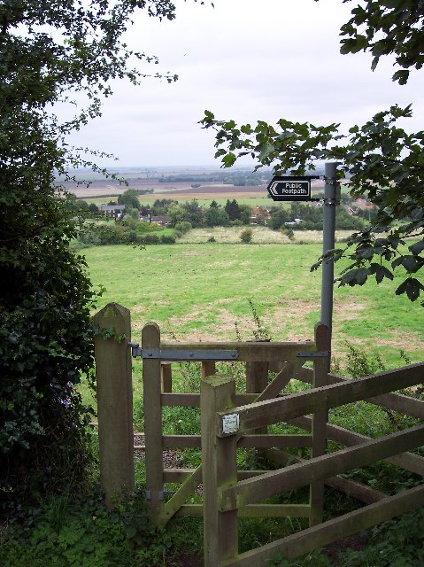 View from St. Helen's downhill towards A155