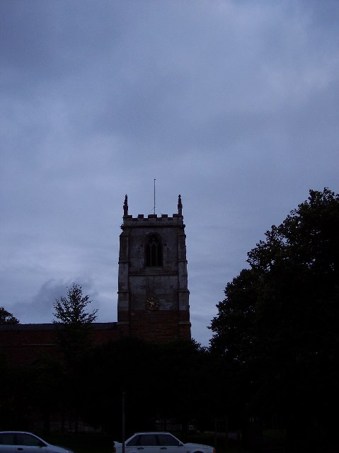 St. Peter's at dusk; Humberston nr. Grimsby, Lincs