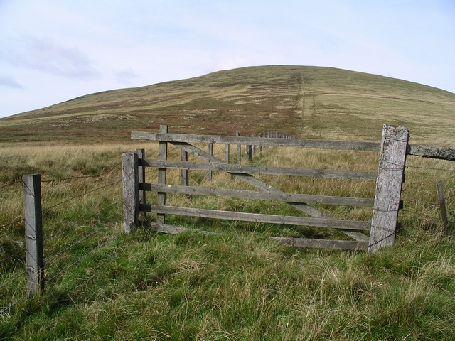 Gate and fence, Culter Fell