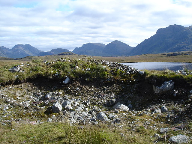 Road quarry on Fionn Loch to Kernsary Track