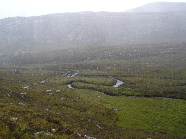 Meander on the Allt Coir' a' Ghiubhachain