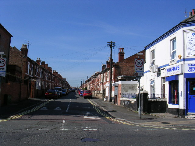 Terraced houses in Crewe Street, Derby