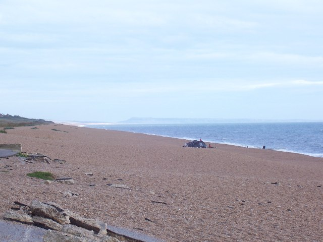 The beach at West Bexington