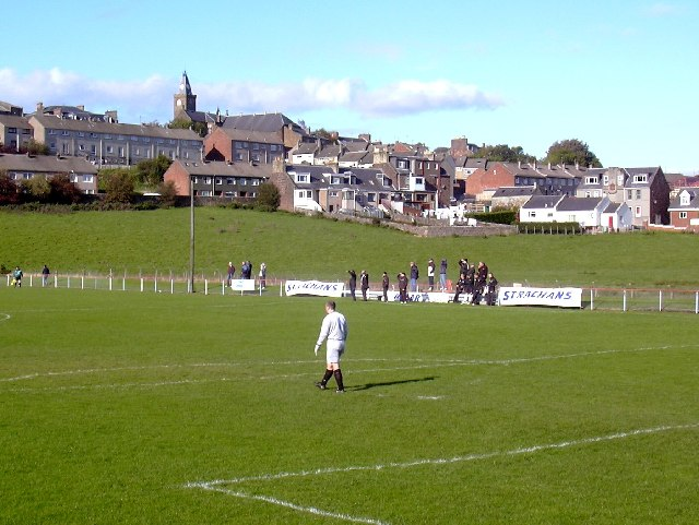 Ladywell Stadium, Maybole. Football ground