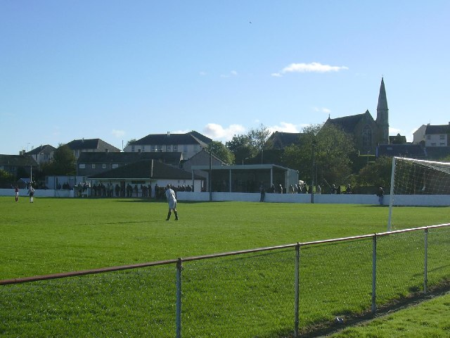 Ladywell Stadium, Maybole. Football ground