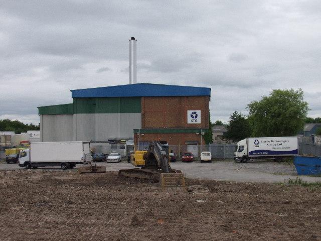 Waste Incinerator on Wrecsam Industrial Estate
