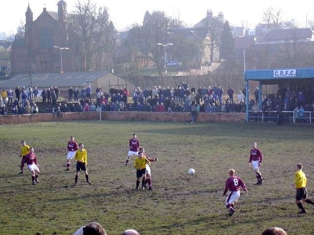 Somervell Park, Cambuslang. Football ground