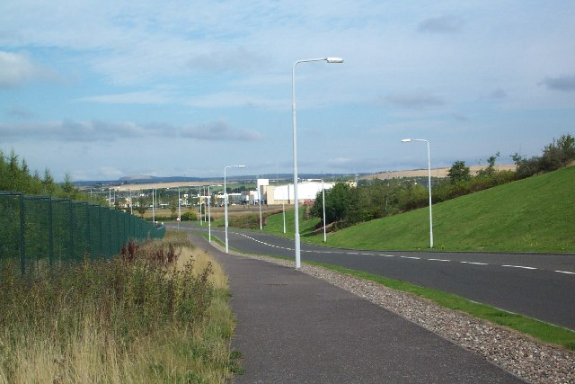 View North over Dunfermline Leisure park.