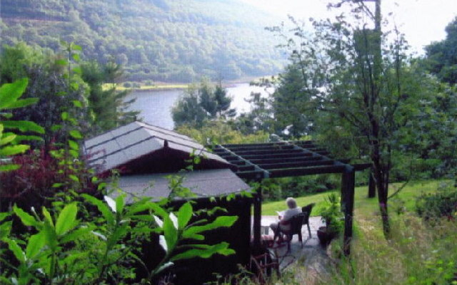 Overlooking Cwm Rheidol Reservoir