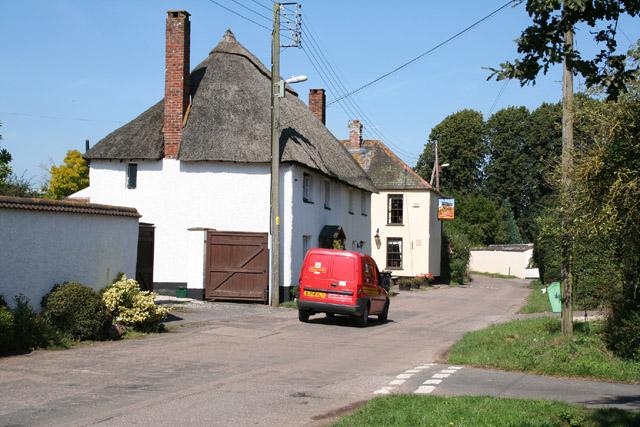 Brampford Speke: village street