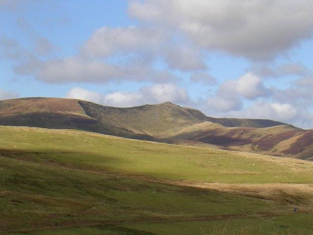 Cadair Berwyn from the upland slopes of Glan Hafon