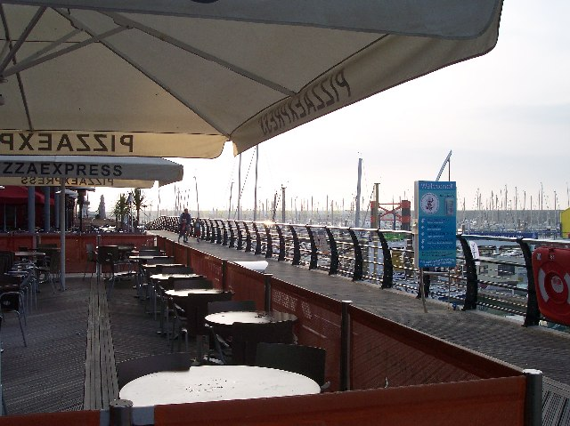 Cafe, Brighton Marina.