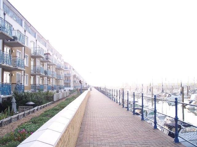 "The ""Broadwalk"", Brighton Marina"